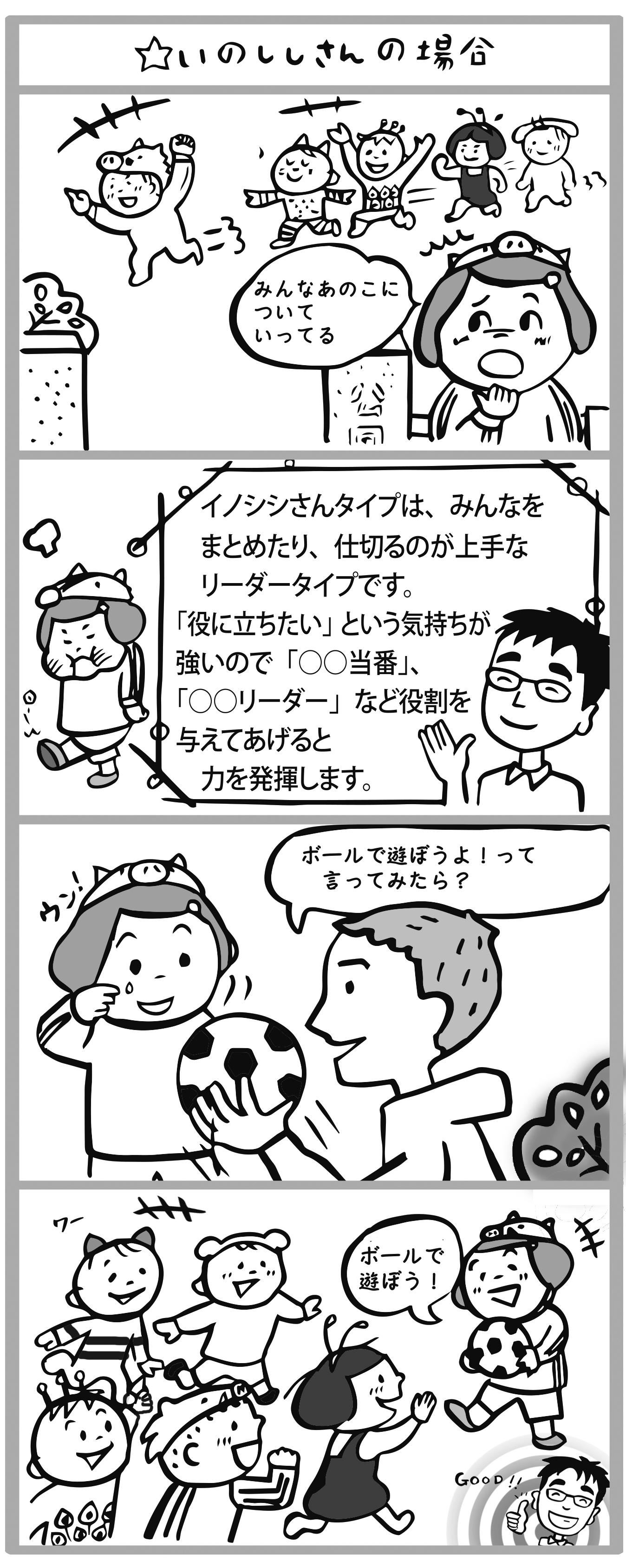 5スタータイプ別マンガ_イノシシさん